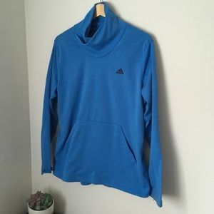 bdfa7789f845b Light blue adidas mock neck sweatshirt